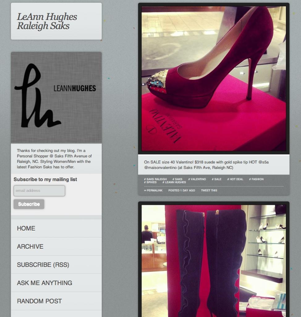 Leann Hughes Personal Shopper at Saks Fifth Avenue