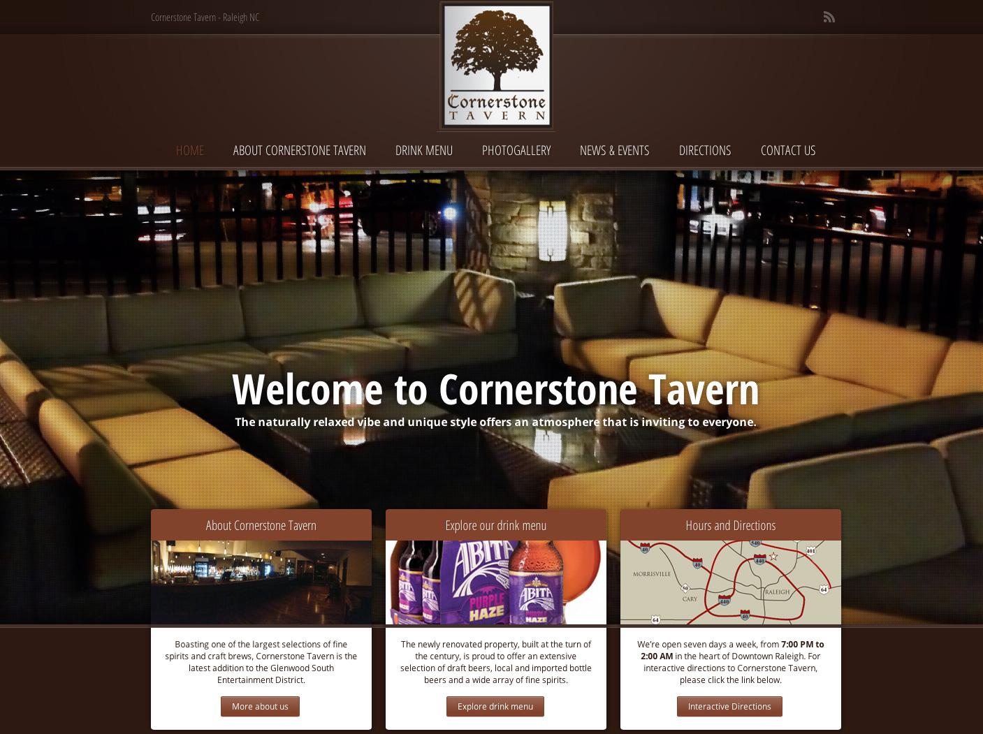 CornerStone WordPress Website