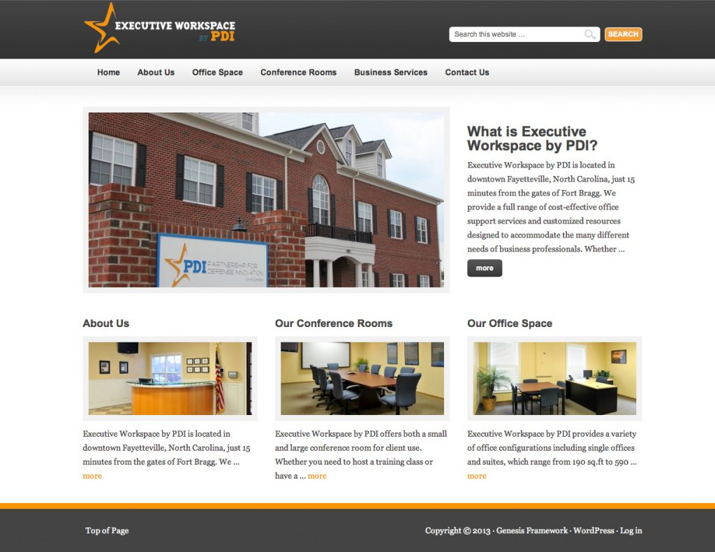 Executive Space NC Web Design