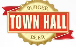 Town Hall Burger and Beer Logo Design
