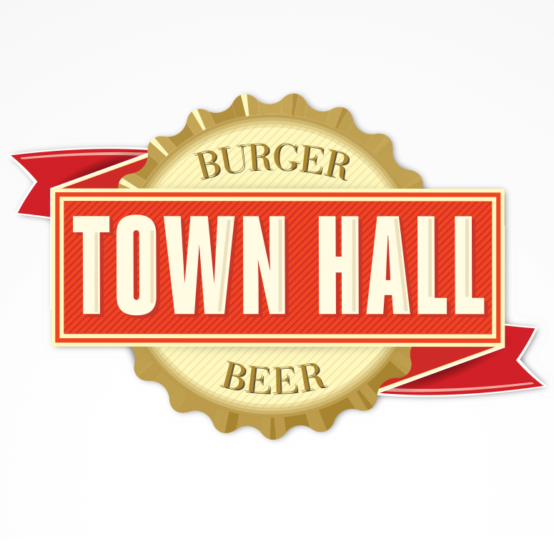 Logo Design for Town Hall Burger and Beer in Chapel Hill NC