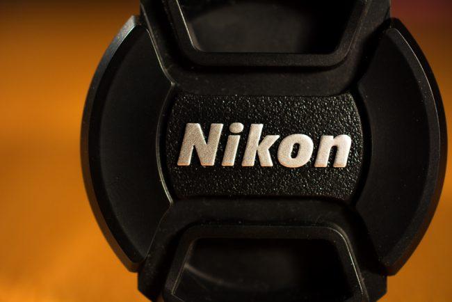 Macro Photography of a Nikon 40mm Prime Lens Cover