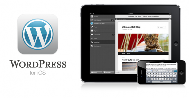 WordPress Mobile App for iPhone and iPad iOS7 updated